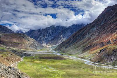 Landscape Of Ladakh Jammu And Kashmir India Poster by Rudra Narayan  Mitra