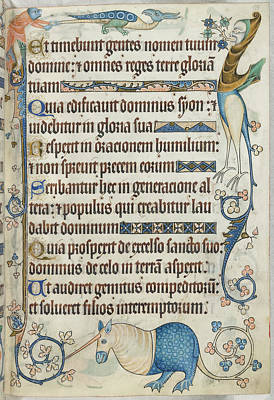 Luttrell Psalter Poster by British Library