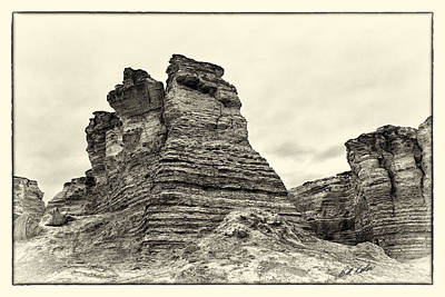 Monument Rocks - Chalk Pyramids Poster by Bill Kesler