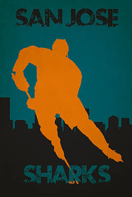 San Jose Sharks Poster by Joe Hamilton