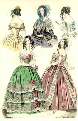 Women's Fashion, 1842 Poster by Granger