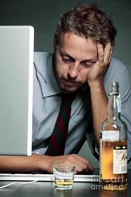 Work Stress Poster by Mauro Fermariello