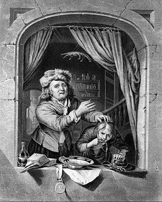 1600s 17th Century Dentist And Patient Poster