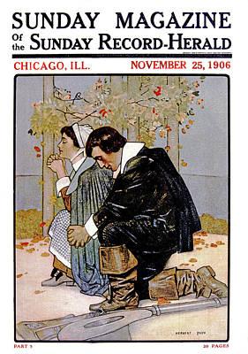1600s Pilgrim Couple Kneeling In Prayer Poster