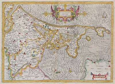 1606 Mercator Map Of Holland Poster