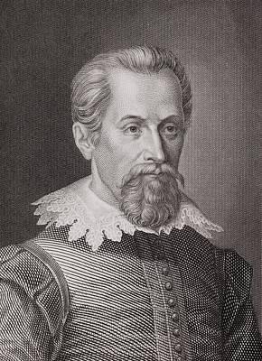 1620 Johannes Kepler Astronomer Portrait Poster by Paul D Stewart