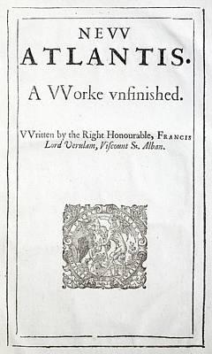 1627 Francis Bacon New Atlantis Frontis Poster