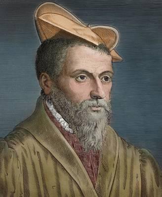1650's Portrait Pierre Belon Naturalist Poster