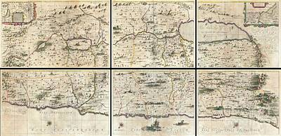 1662 Jansson And Hornius Map Of The Holy Land Israel And Palestine Poster by Paul Fearn