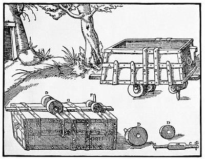 16th Century Mine Cart Poster