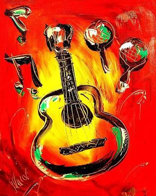 Guitar Poster by Mark Kazav
