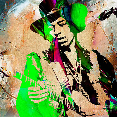 Jimi Hendrix  Poster by Marvin Blaine
