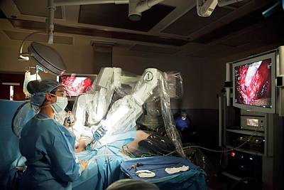 Laparoscopic Robotic Cancer Surgery Poster by Jim West