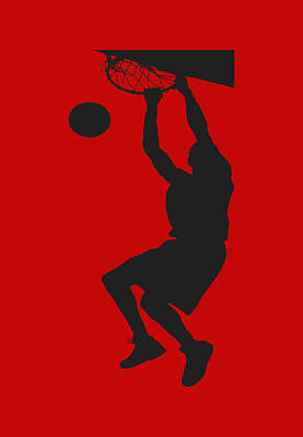 Nba Shadow Player Poster by Joe Hamilton