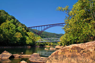 New River Gorge Bridge Poster by Mary Almond