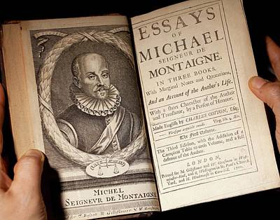 1700 Michel De Montaigne Essays Portrait Poster by Paul D Stewart