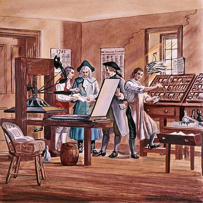 1700s 1721 Benjamin Franklin Age 15 Poster