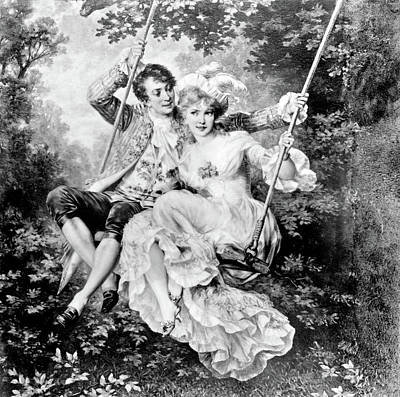 1700s Romantic Couple Man Woman Lovers Poster