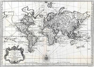 1748 Antique World Map Versuch Von Einer Kurzgefassten Karte  Poster by Karon Melillo DeVega