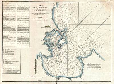 1775 Mannevillette Map Of Trincomalee Ceylon Or Sri Lanka Poster by Paul Fearn