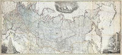 1787 Wall Map Of The Russian Empire Poster by Paul Fearn