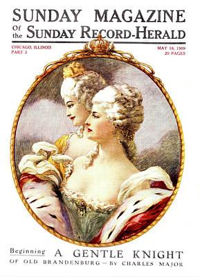 1790s 1700s Two Women Wearing Styles Poster