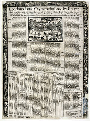 17th Century Account Of Plagues In London Poster by British Library