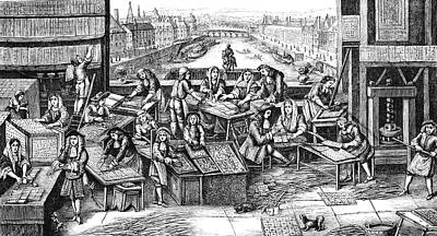 17th Century Playing Cards Factory Poster by Collection Abecasis