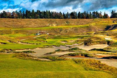 #18 At Chambers Bay Golf Course - Location Of The 2015 U.s. Open Tournament Poster by David Patterson