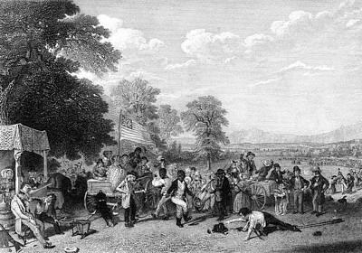 1800s 1840s A Militia Training Poster