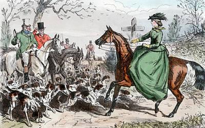 1800s Miss De Glancey Captivates Poster