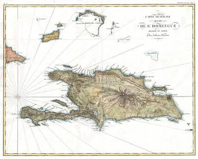 1802 Tardieu Map Of Santo Domingo Or Hispaniola West Indies Poster
