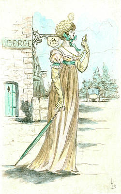 1802, Womens Fashion In Nineteenth-century Paris Poster by Artokoloro