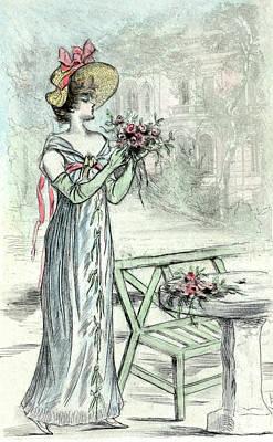 1808, Womens Fashion In Nineteenth-century Paris Poster by Artokoloro