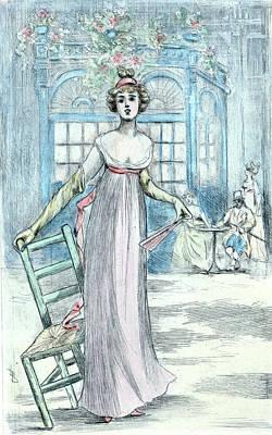 1810, Womens Fashion In Nineteenth-century Paris Poster by Artokoloro