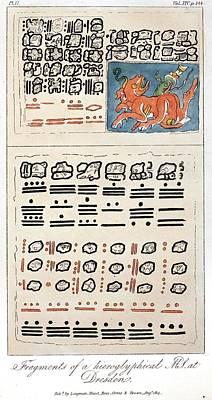 1814 Humboldt Mayan Heiroglyphics Poster
