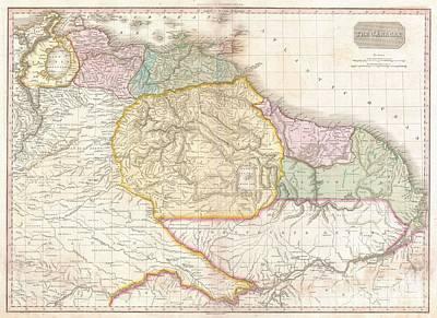 1818 Pinkerton Map Of Northeastern South America Poster