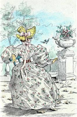 1831, Womens Fashion In Nineteenth-century Paris Poster by Artokoloro