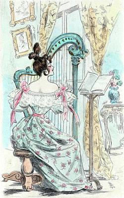 1832, Womens Fashion In Nineteenth-century Paris Poster by Artokoloro