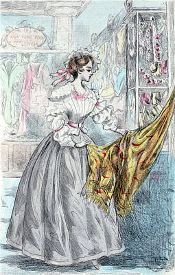 1837, Womens Fashion In Nineteenth-century Paris Poster by Artokoloro