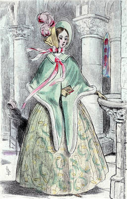 1839, Womens Fashion In Nineteenth-century Paris Poster
