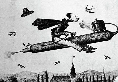 1840s 1800s Illustration Cartoon Of Man Poster