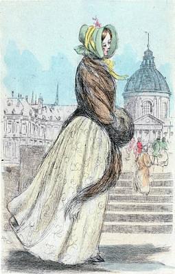 1842, Womens Fashion In Nineteenth-century Paris Poster