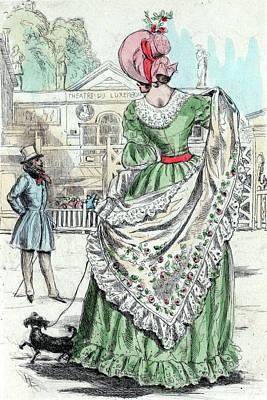1843, Womens Fashion In Nineteenth-century Paris Poster by Artokoloro