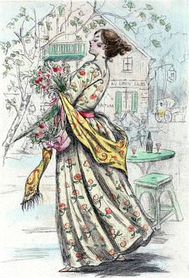 1844, Womens Fashion In Nineteenth-century Paris Poster by Artokoloro