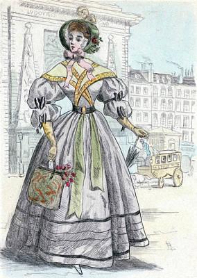 1849, Womens Fashion In Nineteenth-century Paris Poster by Artokoloro