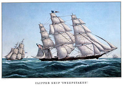 1850s Clipper Ship Sweepstakes - Poster