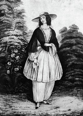 1850s Woman Wearing The Bloomer Costume Poster