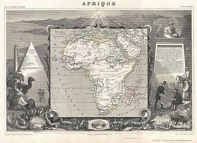 1852 Levasseur Map Of Africa Poster
