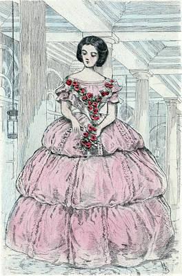 1860, Womens Fashion In Nineteenth-century Paris Poster by Artokoloro